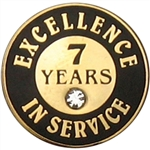 7 YEARS OF SERVICE PIN W/ STONE
