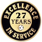 27 YEARS OF SERVICE PIN W/ STONE
