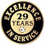 29 YEARS OF SERVICE PIN W/ STONE