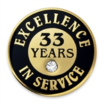 33 YEARS OF SERVICE PIN W/ STONE