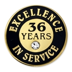 36 YEARS OF SERVICE PIN W/ STONE