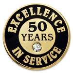 50 YEARS OF SERVICE PIN W/ STONE