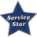 BLUE SERVICE STAR PIN