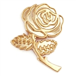 GOLD ROSE PIN