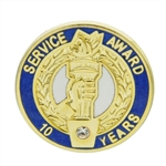 10 YEAR CRYSTAL AWARD PIN