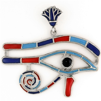 Eye of Horus Pendant With Stones