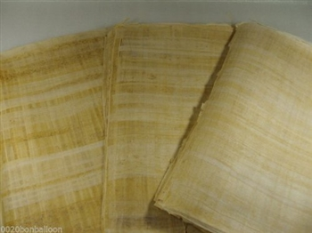 10 Blank Egyptian Papyrus Sheets for Art Projects 6x8 Inch (15x20 Cm)