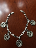 Egyptian Charm Bracelet  ( 7 Inches )