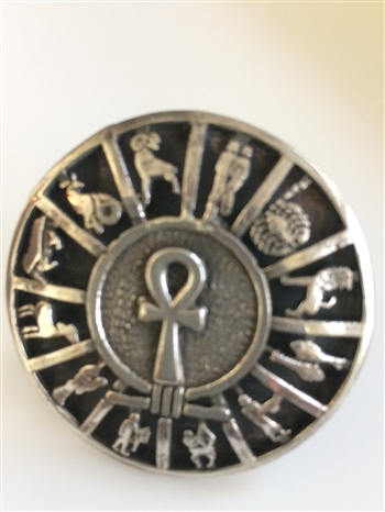 Ankh Zodiac Ring ( 1.8 Inches diameter)
