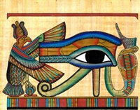 Egyptian Hand-Made Papyrus Painting - Eye of Horus