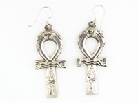 Akhenaten Ankh Earrings
