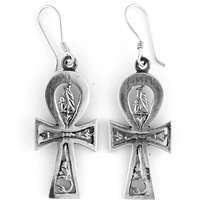 Horus Ankh Earrings - Large