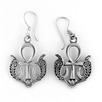 Serpent Ankh Earrings - Large