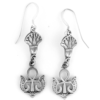 Serpent Ankh Earrings - Small