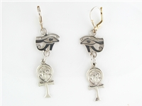 Eye of Horus & Ankh Earrings