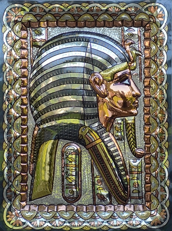 King Tut  Copper Plate 18x13