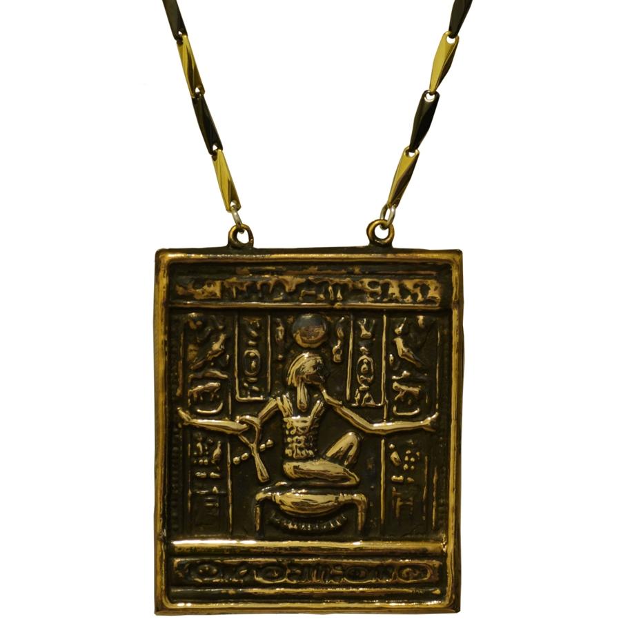 bronze king tut replica pendant