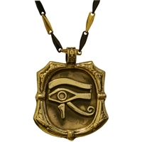 Bronze Eye of Horus Pendant | Egyptian Jewelry