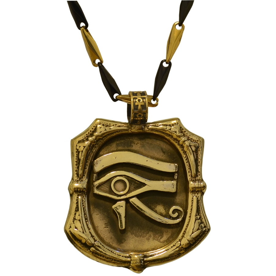 Bronze eye of horus pendant mozeypictures Image collections