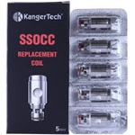 Five Kanger SSOCC Replacement Dual Coil Units