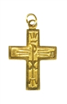 The Walk (Chi Rho) Cross, Gold-Tone