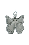 New Life Butterfly Cross, Pewter