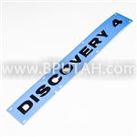 LR4 DISCOVERY 4 Emblem Badge Decal Black LR043107