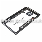 Black Steel Range Rover LIcense Plate Frame