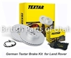 Range Rover Supercharged Textar Brake Pads Rotors