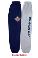ISLAND LAKE ELASTIC BOTTOM SWEATPANTS WITH POCKETS