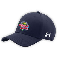 ISLAND LAKE UNDER ARMOUR CURVED BRIM STRETCH FITTED CAP