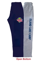 ISLAND LAKE OPEN BOTTOM SWEATPANTS WITH POCKETS