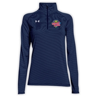 ISLAND LAKE LADIES UNDER ARMOUR STRIPE TECH 1/4 ZIP