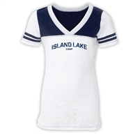 ISLAND LAKE SPORTY BURNOUT V-NECK