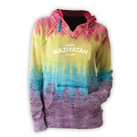 WAZIYATAH COURTNEY BURNOUT V-NOTCH SWEATSHIRT