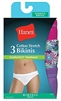 UHET42 Hanes Women's ComfortSoft Cotton Stretch Bikini