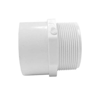 "Adapter 1.5"" Slip x 1.5 MIPT Schedule 40 PVC"