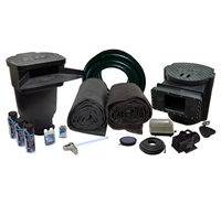 LSUV2  - 20' x 25' Savio Signature Series Large EPDM Water Garden and Pond Kitw/ 26-Watt UVinex System, & LL-20K Aeration Kit
