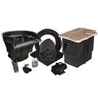 MDP2 - 20' x 20' PondBuilder Crystal 4000 Medium EPDM Pond Kit