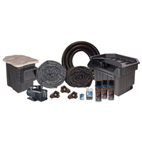 "Half Off Ponds MP0 - PondBuilder Elite 10000 Mega 50' x 80' EPDM Pond Kit w/ 10"" Skimmer & 30"" Waterfall"