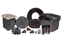 "Half Off Ponds PVCMP14 - PondBuilder Elite 10000 Mega 35' x 40' PVC Pond Kit w/ 10"" Skimmer & 30"" Waterfall"