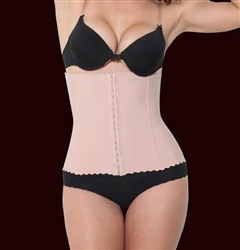 Wholesale Powernet Waist Cincher with front hook eye closure