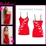 Wholesale Plus size Seamless dress with scoop neck and heart shaped cut out