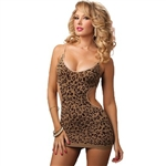 Wholesale Seamless Leopard jacquard dress