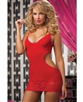 Wholesale Seamless dress with plunge neckline and galloon lace