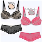 Wholesale Laced Cup Bra and Hipster set