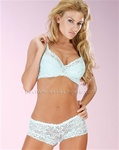 Wholesale Lace bra and boyshort set