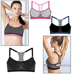 Wholesale Seamless keyhole racer back sports bra