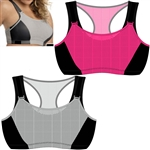 Wholesale Full figure athletic mesh overlay sports bra