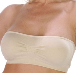 Seamless Bandeau Bra with removable molded cup paddings